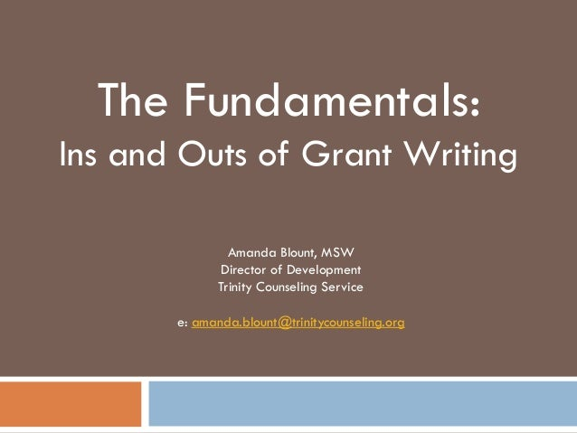 Grant Application Materials