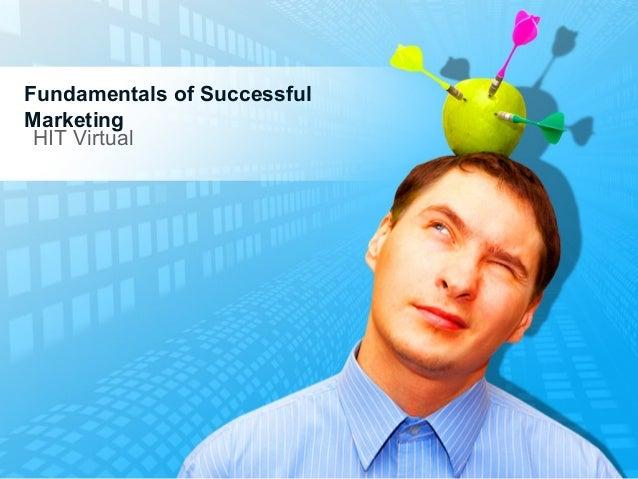Fundamentals of Successful Marketing HIT Virtual
