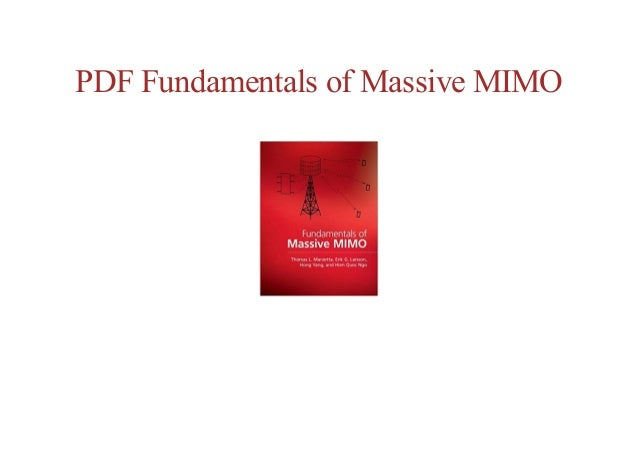 free online Fundamentals of Massive MIMO