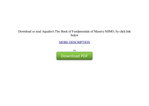 free online Fundamentals of Massive MIMO