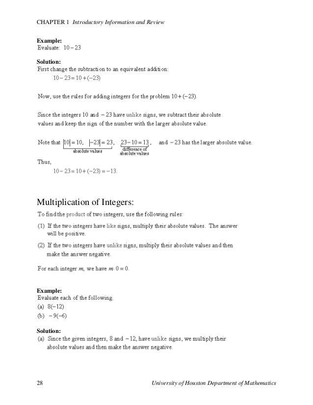 Fundamentals of math