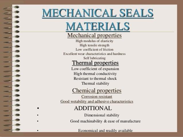 Fundamentals of mechanical seals