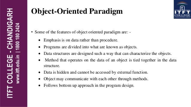 introduction to object oriented programming concepts Introduction it is considered difficult by many to teach the basic concepts of object-orientation a model-driven approach to teaching object-oriented programming.