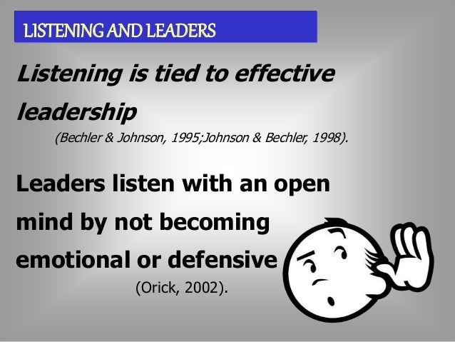 STYLES  OF EFFECTIVE LISTENING