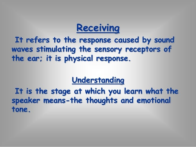 Participatory-Passive listening  Active participation  Physically & mentally engage in the sharing of  meaning  Elements  ...