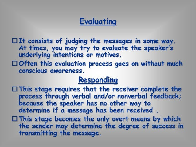Empathic-Objective listening  To listen empathically  Feel with them  See the world as they see  Feel what they feel  It h...