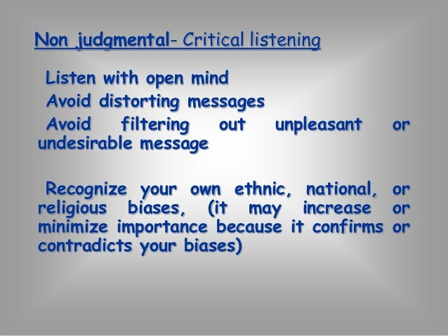 """ACTIVE LISTENING  """"Active listening is the process of sending  back the speaker what the listener thinks  the speaker mea..."""