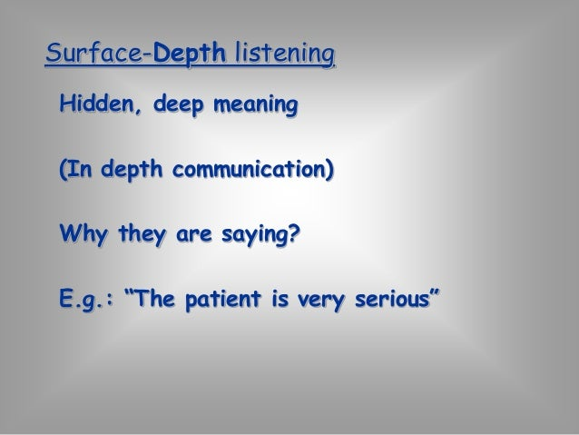 Techniques:  Paraphrase the speaker's meaning.  Express understanding of the speaker's  feeling.  Ask questions to ensure ...