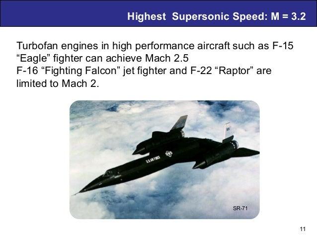 Air Breathing PDE Technology – D. Musielak Highest Supersonic Speed: M = 3.2 11 SR-71 Turbofan engines in high performance...