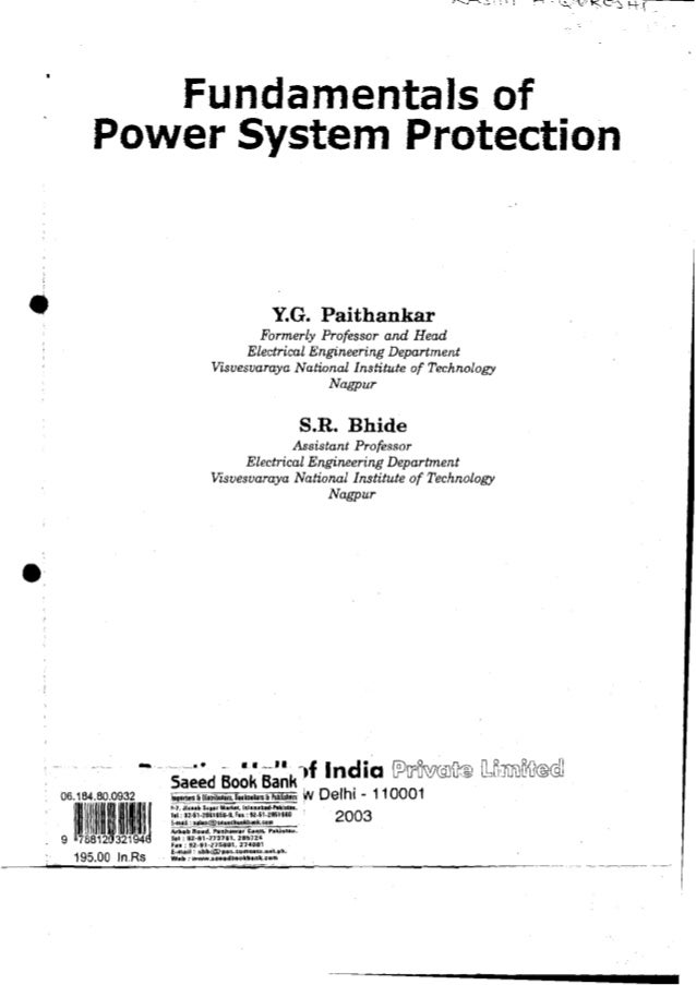 Power System Protection Part Power System Protection
