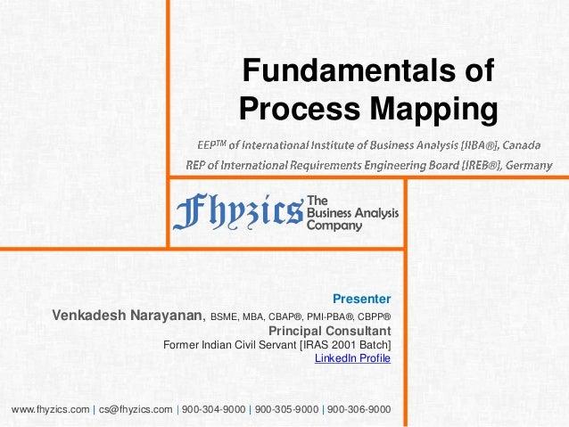www.fhyzics.com   cs@fhyzics.com   900-304-9000   900-305-9000   900-306-9000 Fundamentals of Process Mapping Presenter Ve...