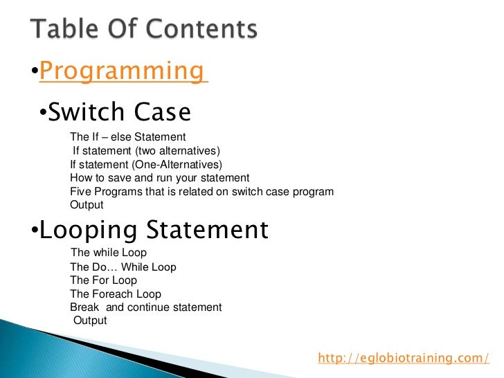 Computer fundamentals if else statement