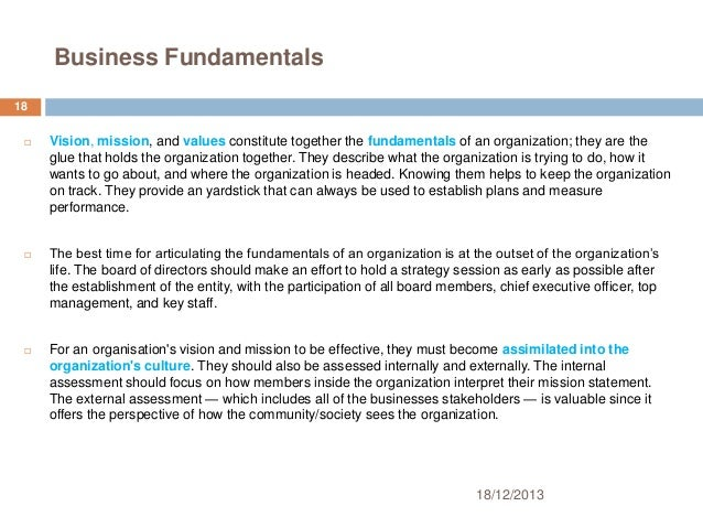 The Fundamentals of Preparing an Effective Business Plan