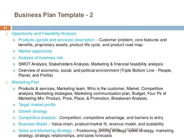 social entrepreneurship business plan template - fundamentals of strategic planning helder ponte