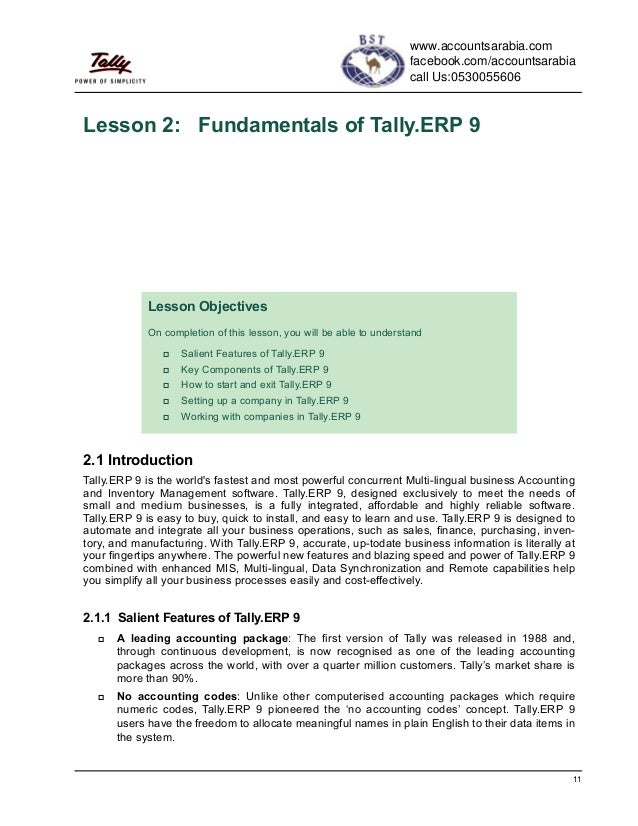 Tally Erp 9 Study Book