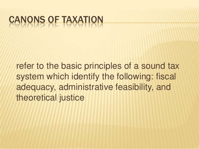 sound tax system meaning
