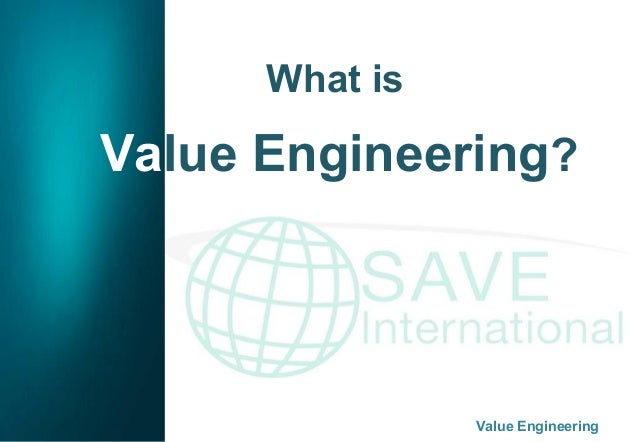 Fundamentals Of Value Engineering
