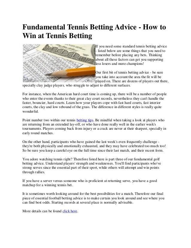 Free professional betting advice tennis pennsylvania online sports betting