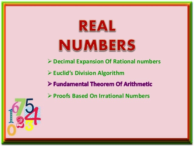 Decimal Expansion Of Rational numbers Euclid's Division Algorithm Proofs Based On Irrational Numbers