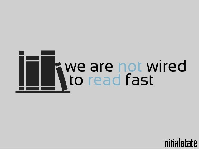 we are not wired to
