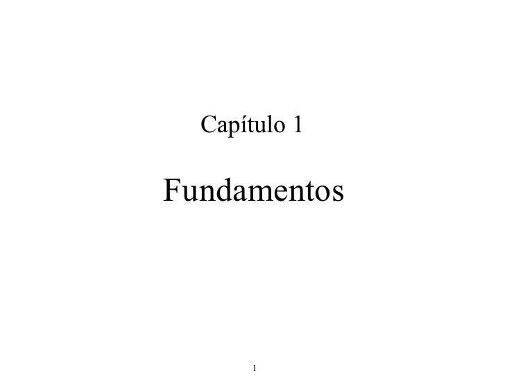 Capítulo 1 Fundamentos