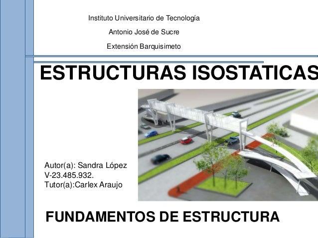 Estructura Isostaticas