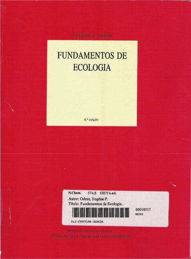 Livro: Fundamentos de ecologia