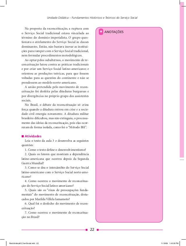 Movimento de reconceituação do serviço social na america latina 10