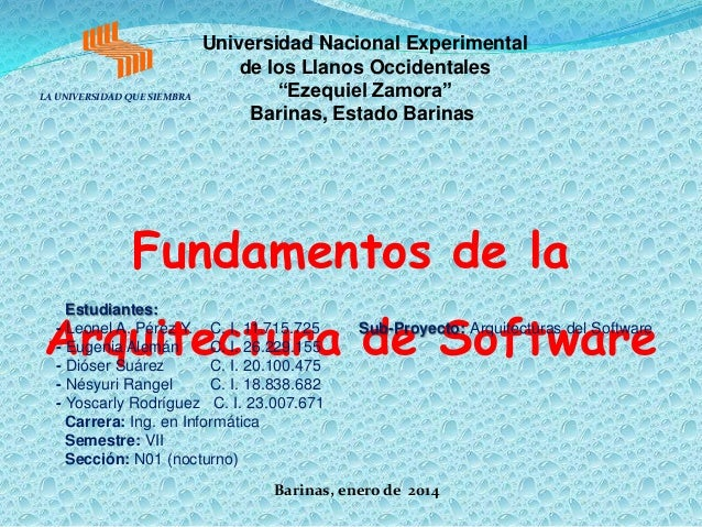 "LA UNIVERSIDAD QUE SIEMBRA  Universidad Nacional Experimental de los Llanos Occidentales ""Ezequiel Zamora"" Barinas, Estado..."