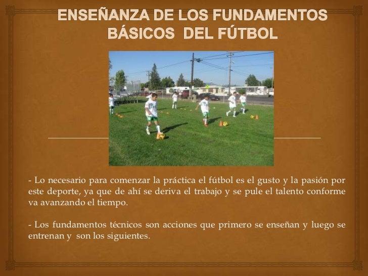 Fundamentos básicos del fútbol