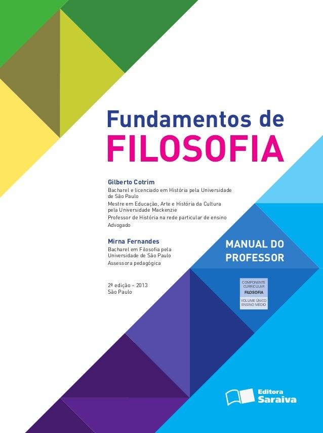 Fundamentos Da Filosofia Gilberto Cotrim Pdf
