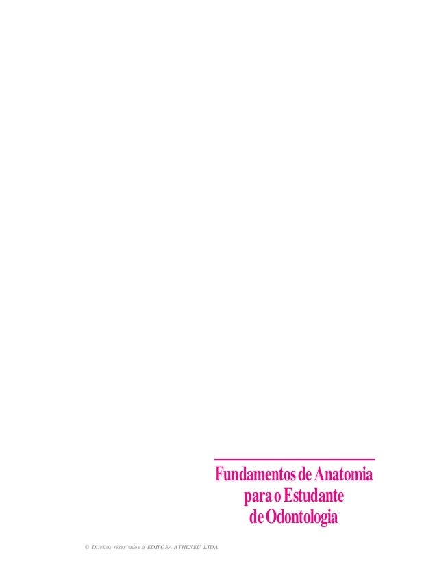 © Direitos reservados à EDITORA ATHENEU LTDA. FundamentosdeAnatomia paraoEstudante deOdontologia
