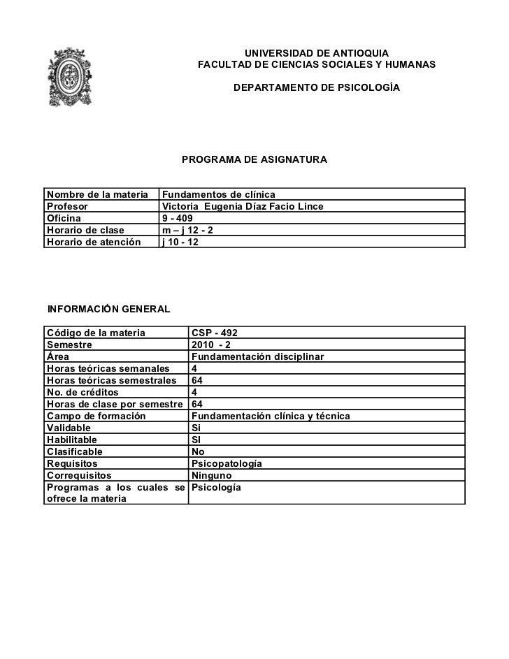 UNIVERSIDAD DE ANTIOQUIA                               FACULTAD DE CIENCIAS SOCIALES Y HUMANAS                            ...