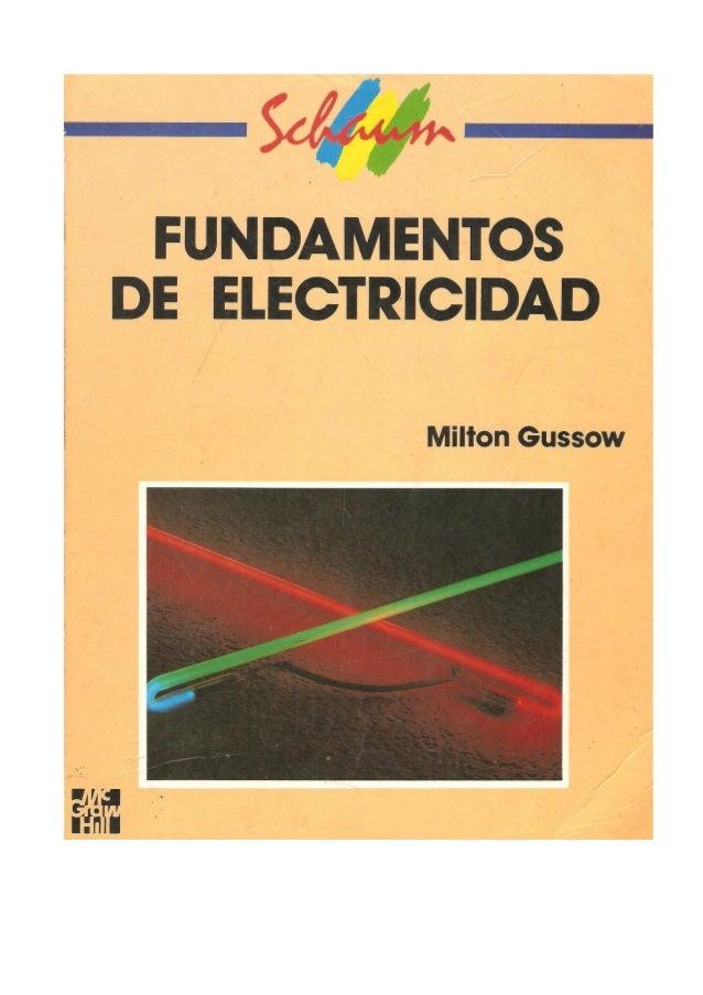 fundamentos de electricidad milton gussow pdf descargar