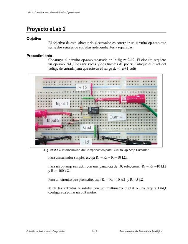 Schema Collegamento Elvox 831 : Circuito operacional sumador circuitos eléctricos y el