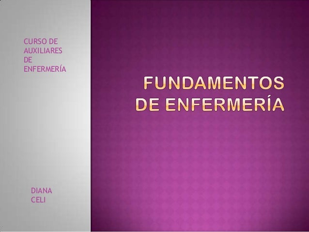 DIANACELICURSO DEAUXILIARESDEENFERMERÍA