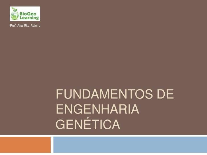Fundamentos de Engenharia Genética<br />