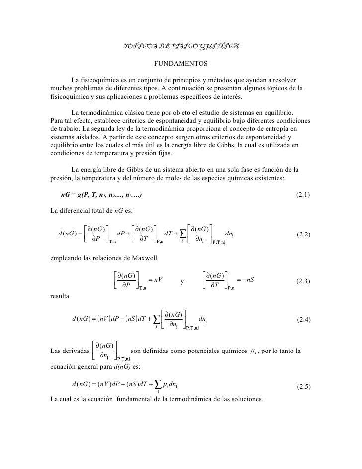Fundamentos de fisico quimica