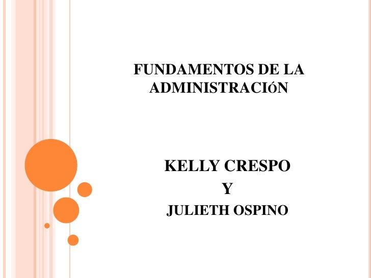 Fundamentos de la administración diapositivas