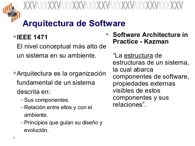Fundamentos de la arquitectura del software for Especializacion arquitectura de software