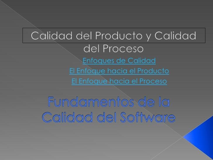 Fundamentos de la calidad del software