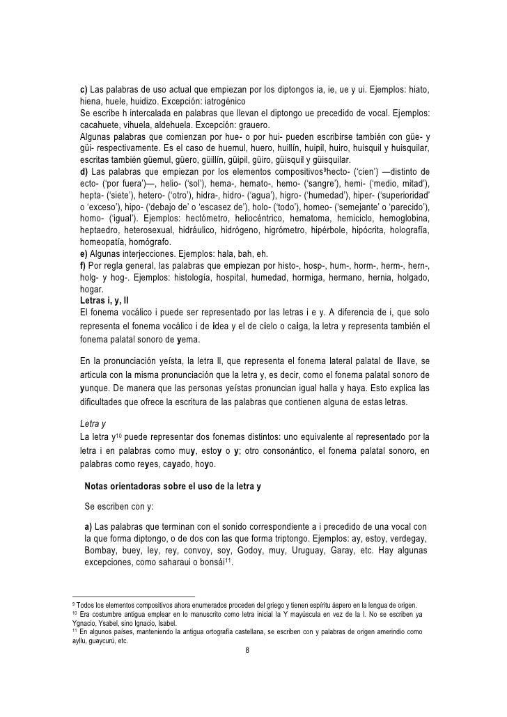 Fundamentos de la ortografía española