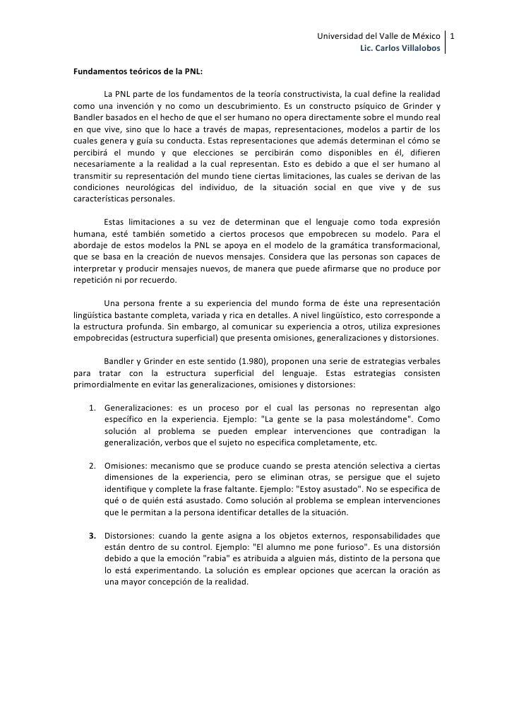 Universidad del Valle de México 1                                                                            Lic. Carlos V...
