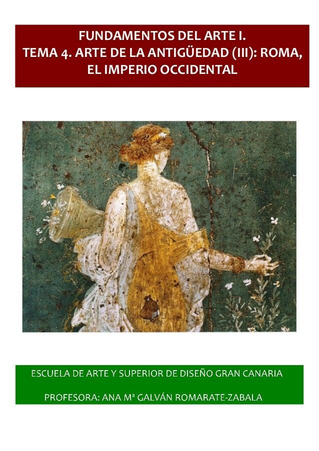 4 AntigüedadiiiRoma Tema Del Fundamentos Arte zSMVpU