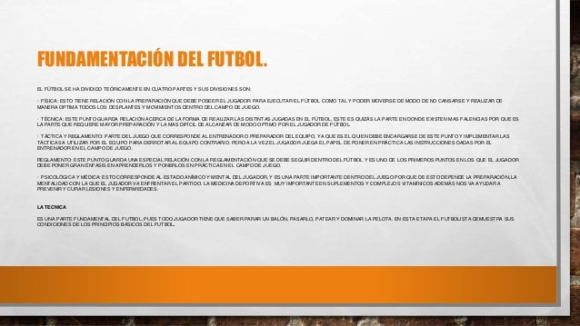 Fundamentos del futbol