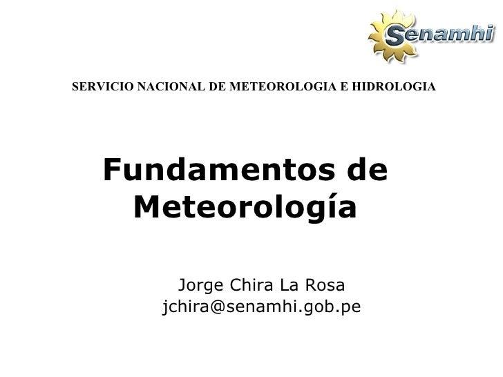 Fundamentos de meteorologia