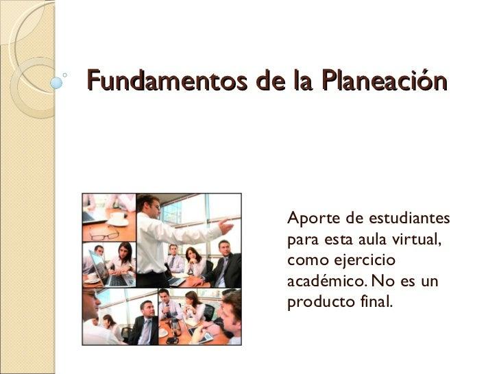 Fundamentos de la Planeación Capitulo 7  Responsables:  Yolimar Gómez José Clemente Sánchez