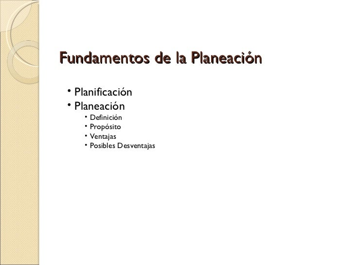 Fundamentos de planeacion Slide 2