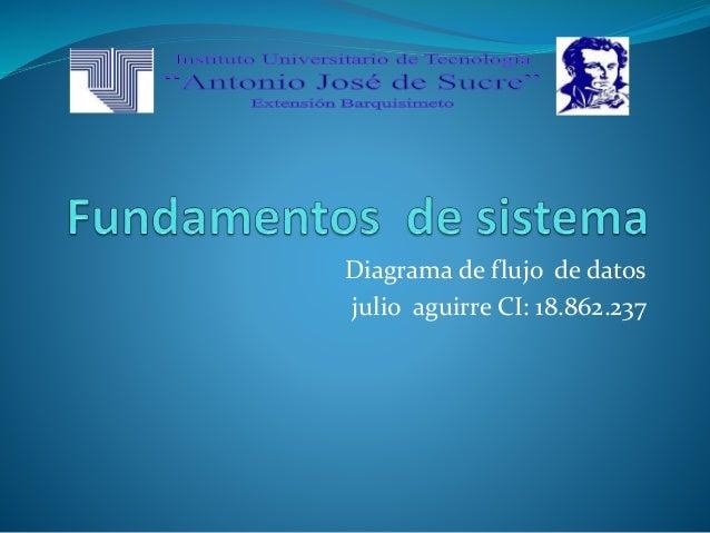 Diagrama de flujo de datos julio aguirre CI: 18.862.237