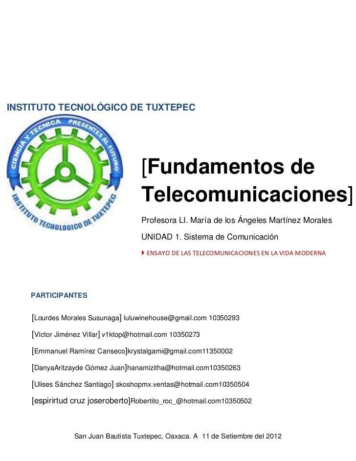 INSTITUTO TECNOLÓGICO DE TUXTEPEC                                     [Fundamentos de                                     ...
